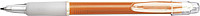 Carman pen with blue ink.Orange