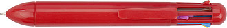 Eight colour plastic ballpen. Red