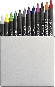 Crayon set in card box, 12pcNeutral