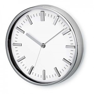 Round shape wall clock, white