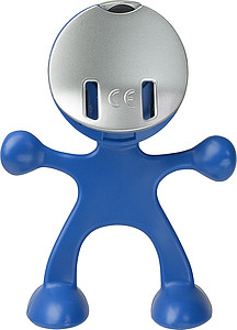 Flexi man alarm clock.Cobalt blue