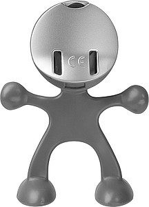 Flexi man alarm clock.Light grey