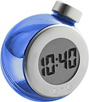 LCD water powered desk clockBlue/silver