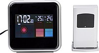 Weather station, 2 pin & battBlack/silver