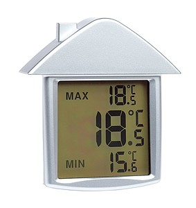 Thermometer with temperature display,colour silver