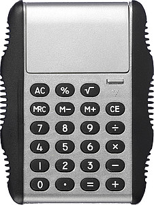 Calculator with rubber sidesSilver