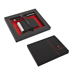 PC CONCORDE Set of cardholder and roller, black