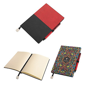 PIERRE CARDIN REPORTER SET of notepad and Celebration ballpoint pen, red