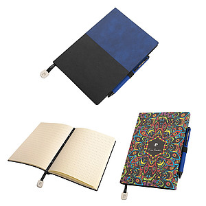 PIERRE CARDIN REPORTER SET of notepad and Celebration ballpoint pen, blue