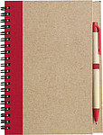 Recycled notebook. Red
