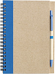 Recycled notebook. Pale blue