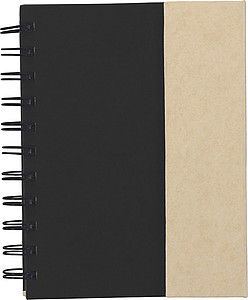 Wire bound notebook.Black
