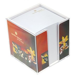 Paper cubes in a plastic box I.