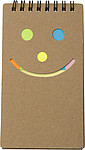 Notebook with sticky notes.Brown