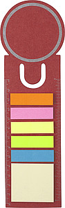 Bookmark made from card Red