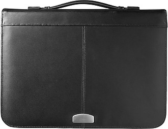 A4 Bonded leather folder Black