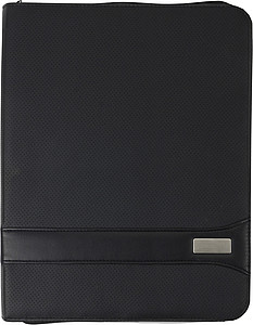 A4 Zipped PVC folder.Black