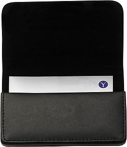 Bonded leather card holder Black