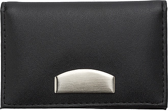 Bonded leather card holderBlack
