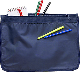 A4 nylon document bag Blue
