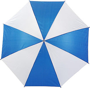 Umbrella with crook handle.Blue/white