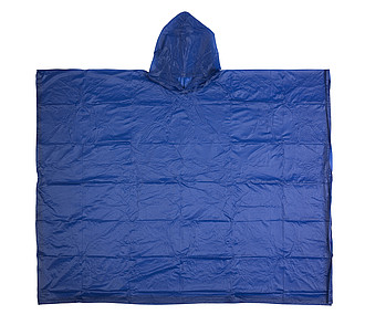 Vinyl poncho with hoodBlue