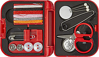 Sewing set in solid colored cassette.