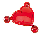 """Massage heart """"For Two"""" with three balls,colour red"""