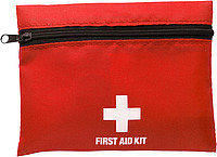 First aid kit in a nylon pouch Red