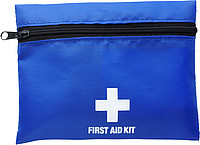 First aid kit in a nylon pouch Cobalt blue