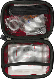16 pc First aid kit.Red