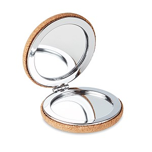 Pocket mirror with cork cover