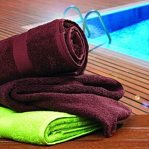VS DEORIA 4 set of two green terry towel and two brown bath towel, 530g