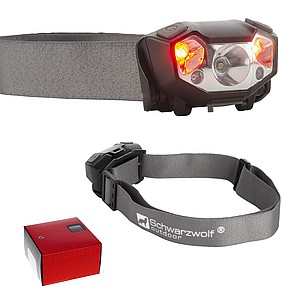 SCHWARZWOLF MINO Rechargeable head lamp with a XPE