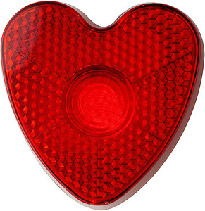 Heart shaped safety light Red