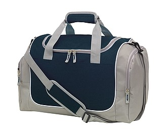 "Sports bag ""Gym"" with main zip compartment,colour grey, black"