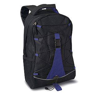 LEMA Adventure rucksack, black & blue