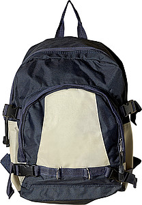 Backpack with front pocketBlue