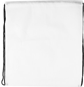 Drawstring bag, non woven White