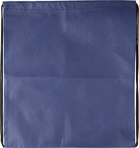 Drawstring bag, non woven Blue