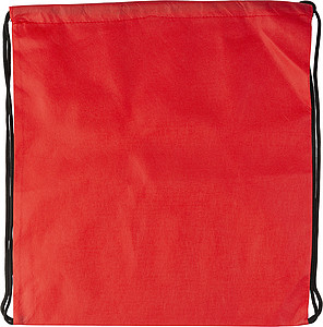 Drawstring bag, non woven Red