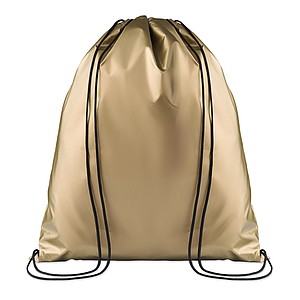 Drawstring bag with lamination