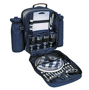 "Picnic backpack ""Hyde Park"" for 4 people,colour blue"