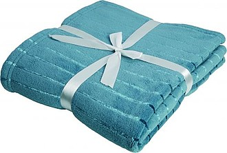 VS PONAPE Blue Coral Fleece Blanket with Stripes