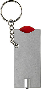 Key holder with coin (€0.50 size)Red