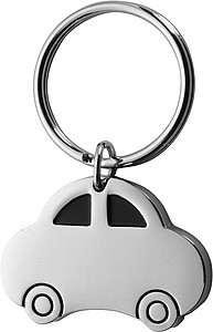 Car shaped metal key holderSilver