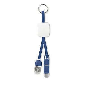 Key ring with USB type C and micro USB connector.