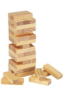 """Wooden Tower """"High-rise"""",colour wood"""