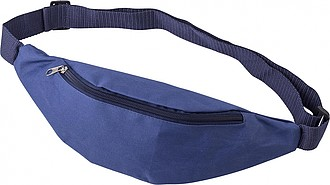 Oxford fabric (600D) waist bag with zippered pocket at the front and back