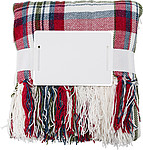 100% Polyester (600 gr/m2) blanket, extra soft thanks to the chenille yarn used, red